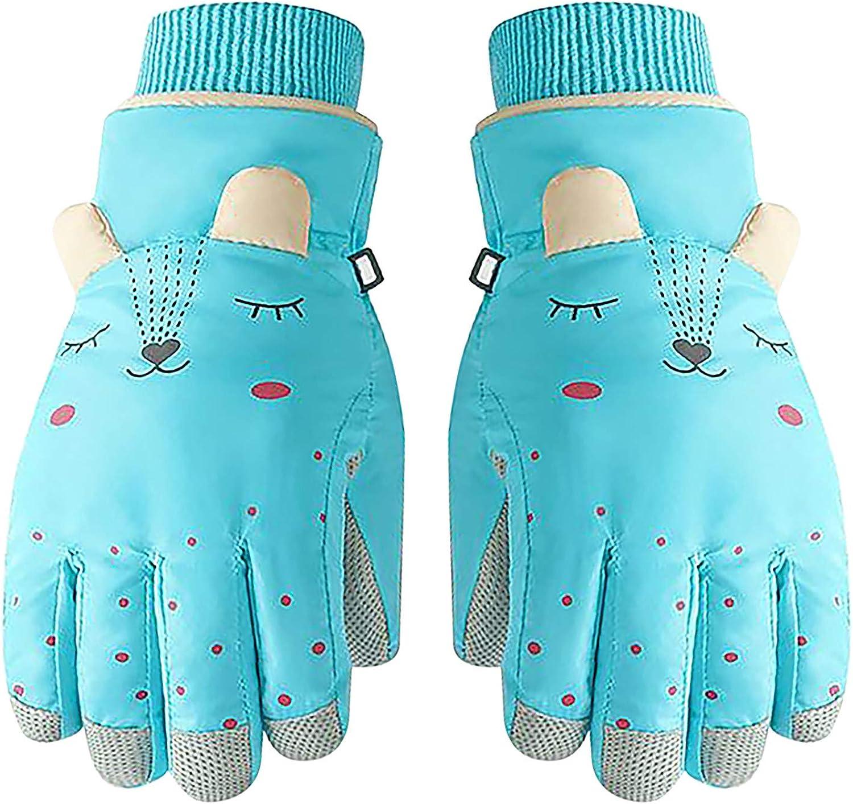 Goosuny Kinder Handschuhe Winterhandschuhe Skihandschuhe Cartoon Ohren Winter Wasserdichte Winddicht Kinderhandschuhe f/ür 6-12 Jahre Jungen M/ädchen Skifahren Wandern Radfahren