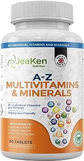 COMPLEJO VITAMINAS Y MINERALES | 26 Vitaminas y Minerales Individuales - Multivitaminas Hombre y Vitaminas Mujer - Vitaminas Para el Cansancio y Bienestar | 90 Complejo Multivitaminas Vegano Tabletas