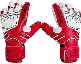 Sportout Jeugd Goalie Doelman Handschoenen,Sterke grip voor de zwaarste Saves, met vingerstekels om prachtige bescherming ...
