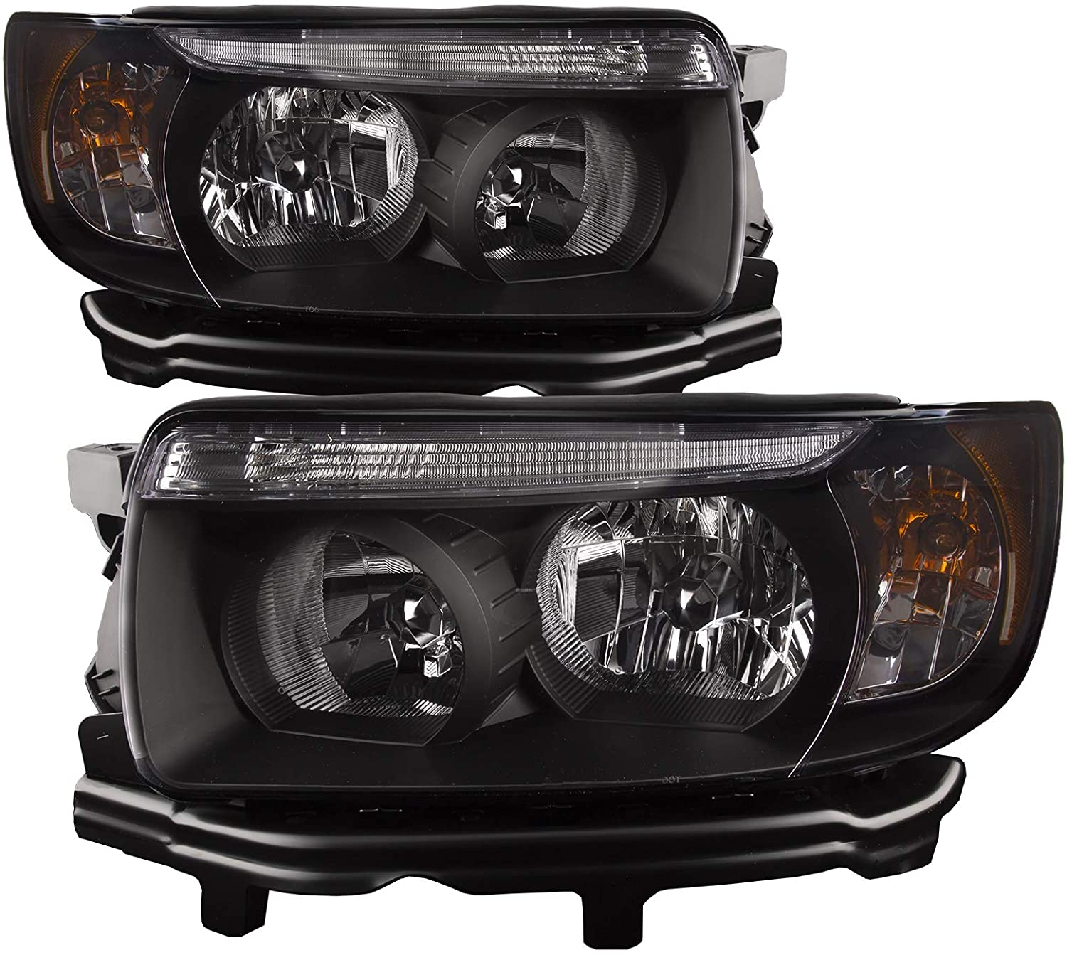 PERDE Black Housing Halogen 限定Special Price Headlight OUTLET SALE Clear Lens w Compatible wi