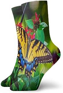 Calcetines de Equipo Mariposa Jardín Flores Colores Verano Calcetín Deportivo Anti Olor
