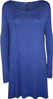 9 Farben Gr/ö/ße 42-56 WearAll Damen /Übergr/ö/ße Elastisch Gefuttert Spitze Kurzarm Lang Top Kleid