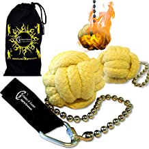 Pro Fire Poi set 'Panther Paw' + Travel Bag by Flames 'N Games (Panther Poi)