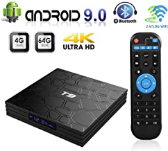 $49 » Android 9.0 TV Box,T9 Smart Android TV Box 4GB RAM 64GB ROM RK3328 Quad-core 64 Bits Set Top Box Support 4K 3D 2.4Ghz/5Ghz Dual WiFi, BT 4.0 Support, USB 3.0 H.265 HDMI Output Ultra HD Media Player