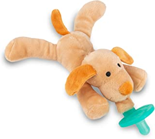 Puppy Stuffed Animal Pacifier Holder,Latex-Free Soother with Stuffed Toy, Calming and Easy to Clean Baby St...