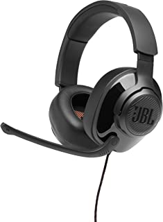 JBL Quantum 200 Wired Over-Ear Gaming Headphone, Black