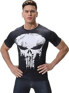 Men's Film Super-Hero Skull Logo Sports Shirt Running Party Short Sleeve Tee