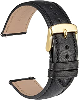 WOCCI Quick Release Watch Band 18mm 20mm 22mm - Full Grain Leather Watch Straps for Men or Women
