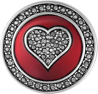 Red Enamel Hematite Heart SN01-23 (Standard Size) Interchangeable Jewelry Accessories