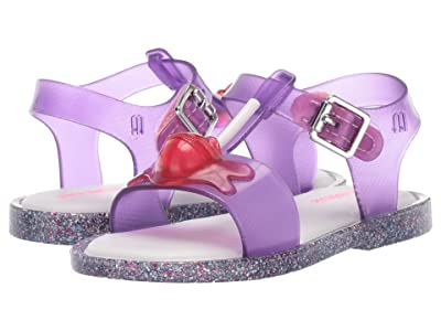 Mini Melissa Mini Mar Sandal II (Toddler/Little Kid) (Purple/White) Girls Shoes