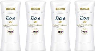 Dove Advanced Care Antiperspirant Deodorant, Clear Finish 2.6 oz, 4 count