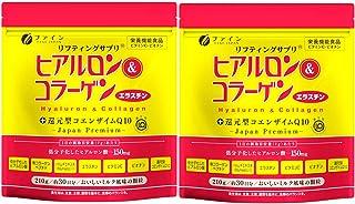 ファイン ヒアルロン&コラーゲン+還元型コエンザイムQ10 袋タイプ ヒアルロン酸 150mg コラーゲン 5,250mg エラスチン 15mg 国内生産 30日分 (1日7g/210g入)×2個セット
