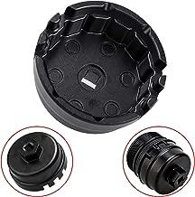 3mirrors Oil Filter Cap Wrench 64mm Oil Filter Wrench for Toyota, Lexus, Camry, Corolla, Highlander, RAV4, Durable Aluminium