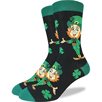 Clover happy st St.patricks festival youth socks Crew Lightweight Compression Art