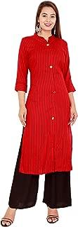 RED MARLIN Women's Printed Flared Kurta (XX-Large)