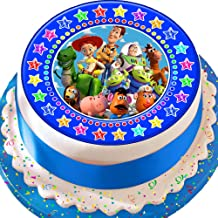 Cannellio Cakes Toy Story Blue Star Border 7.5 Inch Precut Edible Icing Cake Topper Decoration