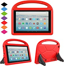 New Fire HD 10 2017 Tablet Case-TIRIN Light Weight Shock Proof Handle Stand Kids Friendly Case for Amazon Fire HD 10.1 Inch Tablet (7th Generation, 2017 Release),Red