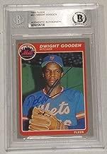 Dwight Doc Gooden Signed 1985 Fleer Mets Baseball Rookie Card 82 BAS COA RC Auto - Beckett Authentication
