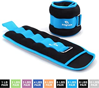 Fragraim Ankle Weights for Women, Men and Kids - Strength Training Wrist/Leg/Arm Weight Set with Adjustable Strap for Jogging, Gymnastics, Aerobics, Physical Therapy (from1lb to 10lbs Pair)