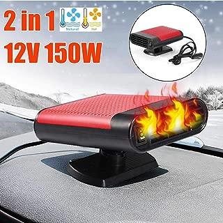 Car Heater,12v Riscaldatore per Auto Ventola di Raffreddamento con Protezione da Surriscaldamento,Riscaldamento Sbrina Rapido Defogger per Cruscotto Parabrezza Riscaldatore per SUV Camion Auto