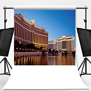 Luxury Resort Casinos on Las Vegas Strip at Sunset Photography Backdrop,056943 for Photography,Flannelette:5x7ft