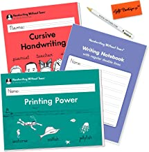 Handwriting Without Tears Cursive Handwriting - Printing Power - Writing Notebook - 2nd and 3rd Grade Kit - Bonus Pencil for Little Hands, and Eraser
