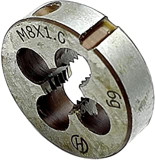 Drillco 3100E Series High-Speed Steel Adjustable Round Split Pipe Threading Die 13//16 Diameter Finish M2 x 0.40 Uncoated Bright