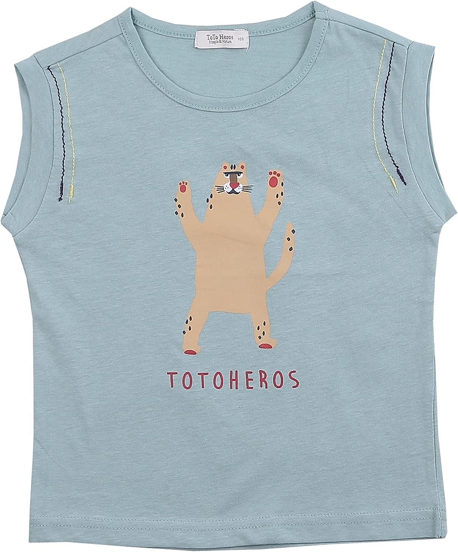 TOTO HEROS Boys Girls Cotton Tank Top Sleeveless t Shirt Cami Shirts Tshirts 2T-12Years