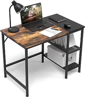 مكتب كمبيوتر HOMIDEC 40 بوصة للكتابة مع أرفف التخزين، مكتب العمل للمساحات الصغيرة، دراسة الكتابة، طاولة صناعة حديثة لغرفة ...