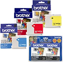 Brother FAX-1360 Ink Cartridge Set - 2pcs Black with 1 of each Color