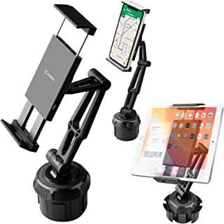 Cellet Tablet/Smartphone Heavy Duty Cup Holder Mount Phone Cradle Compatible with iPhone 11/Pro Max 11 Xr Xs Max Xs X SE 8 Note 10 9 8 Galaxy S10 S9 Tab S4/S5E Pixel 4 3 XL iPad Pro 12.9 AIR/9.7/Mini