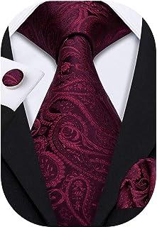 کت و شلوار کراوات مردانه و لباس باری Barry.Wang Paisley با دکمه سرآستین مربع جیبی رسمی