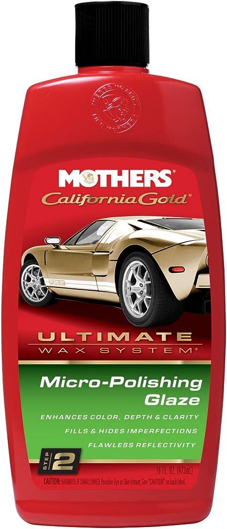 Amazon Com Mothers 08100 California Gold Micro Polishing Glaze Ultimate Wax System Step 2 16 Oz Automotive