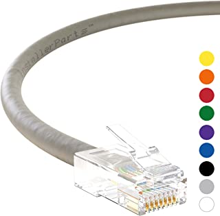 InstallerParts Ethernet Cable CAT6 Cable UTP Non-Booted 25 FT - Gray - Professional Series - 10Gigabit/Sec Network/High Speed Internet Cable, 550MHZ