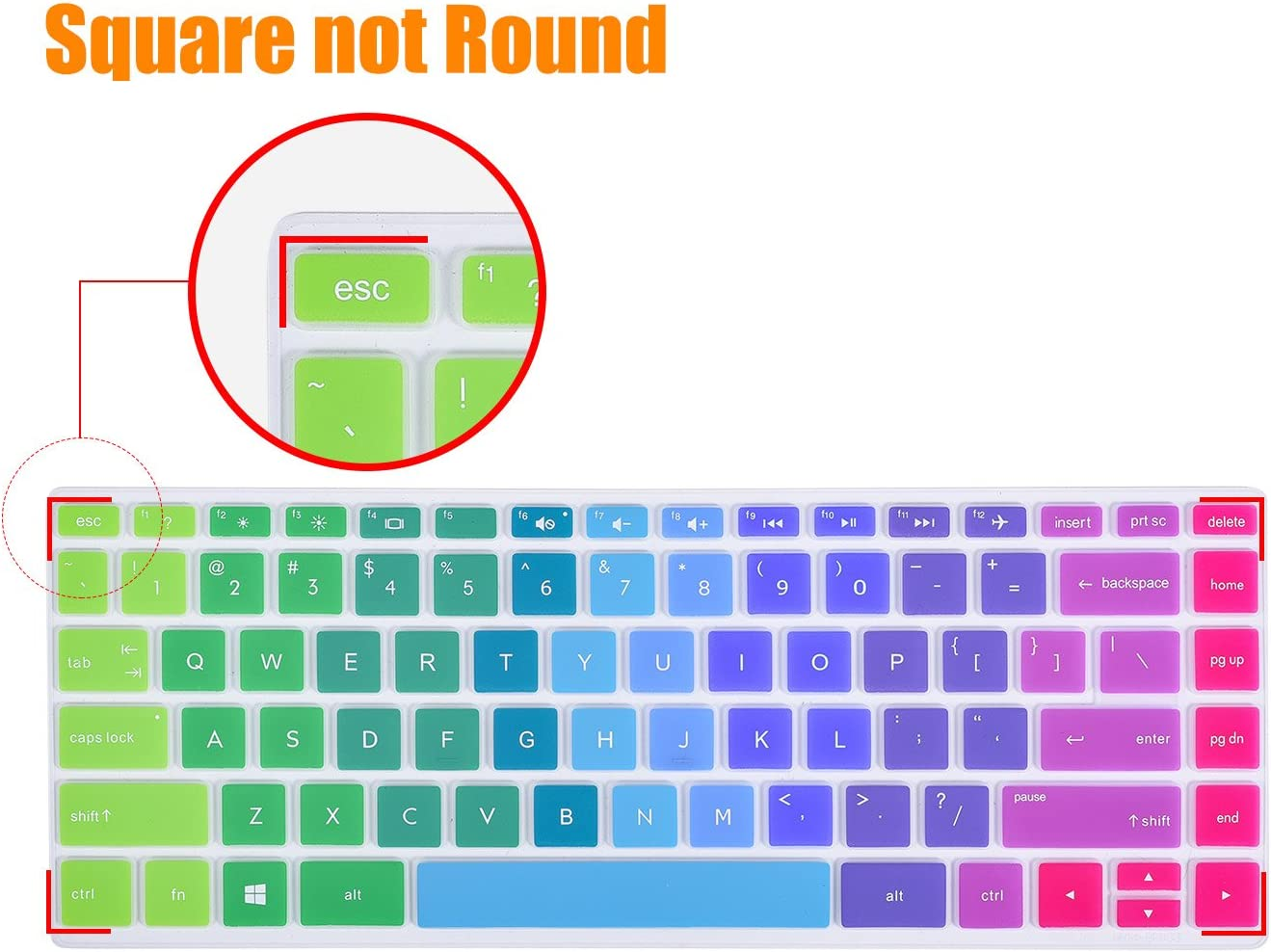 Mint Green CaseBuy Keyboard Cover for HP Pavilion x360 14M-BA 14M-CD 14M-DH 14-BF 14-BW 14-cm 14-CF 14-DF Series 14M-DH0003DX 14M-DH1001DX 14M-DH1003DX 14M-CD0003DX 14 Inch Protective Skin
