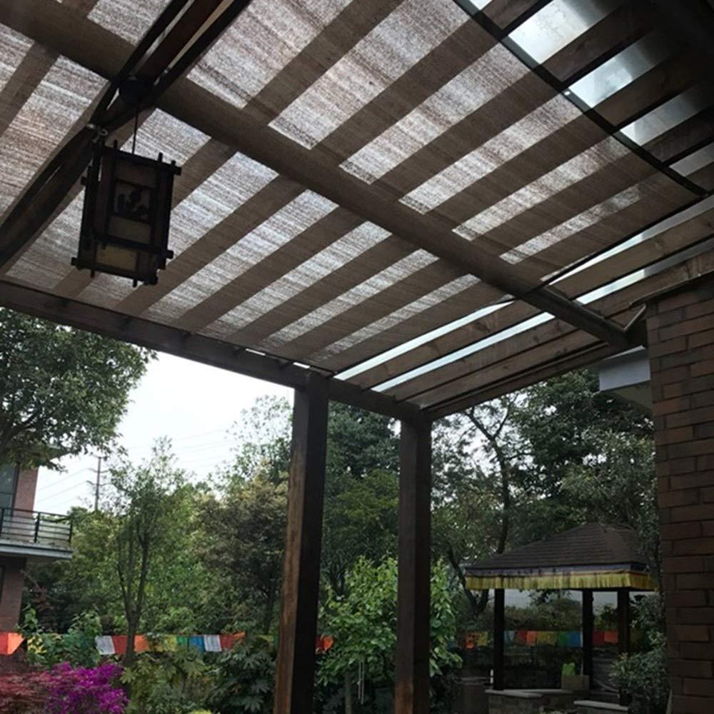 QIANCHENG-Shading net Malla Sombra De Red marrón Cubierta de pérgola Sombrilla de Red Aislamiento térmico Cifrado Polietileno Jardinería Invernadero, 21 Tallas (Size : 0.9x1m): Amazon.es: Jardín