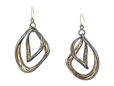 Alexis Bittar Two-Tone Orbiting Sculptural Earrings (Gold 1) Earring