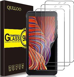 QULLOO Verre Trempé pour Samsung Galaxy Xcover 5 [3 pièces], Protecteur D'écran Ultra Résistant Dureté 9H Film Protection ...