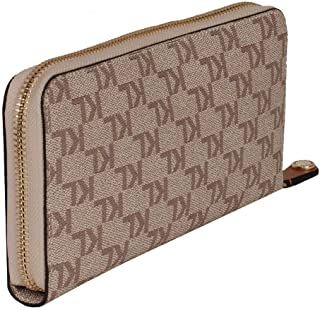 Karl Lagerfeld Paris Women's Maybelle Zip Around Wallet, ALMOND/TAUPE, One Size