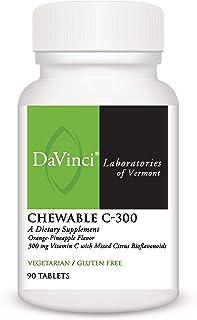 Davinci - Chewable C-300, Vitamin C Supplement, Orange-Pineapple Flavor, 90 Tablets