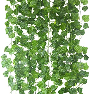 ECHODONE 82 Ft Artificial Ivy Leaf Garland Fake Hanging Plants Grape Silk Ivy Vine Garlands Wall Crafts Christmas Party Decoration