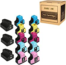 BABU Compatible Ink Cartridge Replacement for HP 02 Work for HP PhotoSmart C6150 C6180 C7150 C7180 C7280 D7260 D7360 D7160...