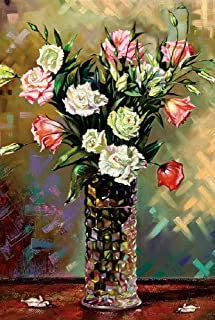 Moruska Jigsaw Puzzles 1000 Pieces for Adults, Challenging Wooden Puzzles for Adults 1000 Piece Art Puzzle - Flowers in Vase Puzzle