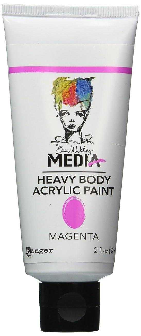 Ranger Dina Wakley Media Heavy Body Acrylic Paint, 2-Ounce, Magenta