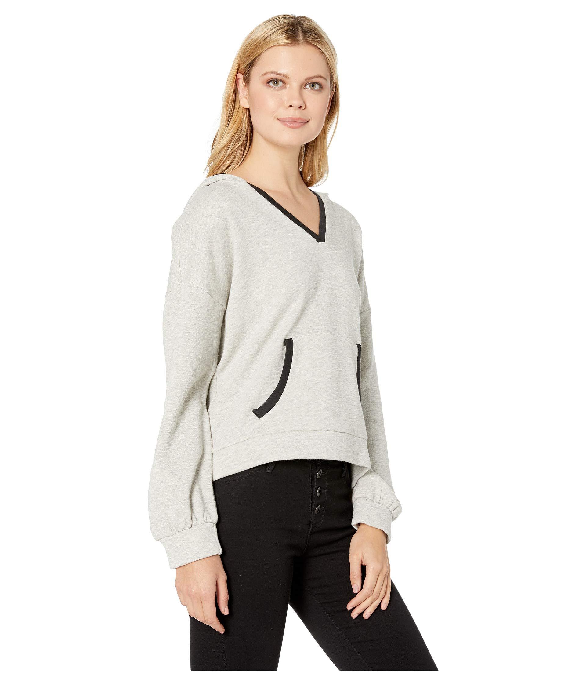 Lucky Multi Sweatshirt Grey Hooded Brand Contrast Trim r1qr08