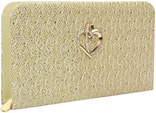 MJ Forever Women's Wallet/Clutch/Hand Bag/Attractive Golden Color Party wear Purse for Ladies/Girls