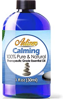Artizen Calming Essential Oil (100% Pure & Natural - UNDILUTED) Therapeutic Grade - Huge 1oz Bottle - Perfect for Aromathe...