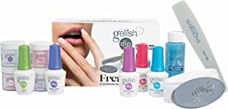 Gelish Soak Off French Tip Acrylic Powder Nail Dip Color Set with Harmony Buffer