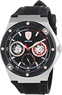 Ferrari Mens Quartz Watch, Chronograph Display and Silicone Strap 830556