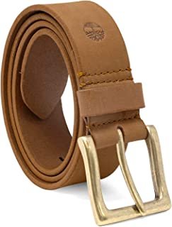 Timberland Men's 38 Mm Boot Leather Wheat Belt